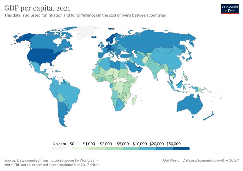 Gdp Per Capita World Map GDP per capita   Our World in Data