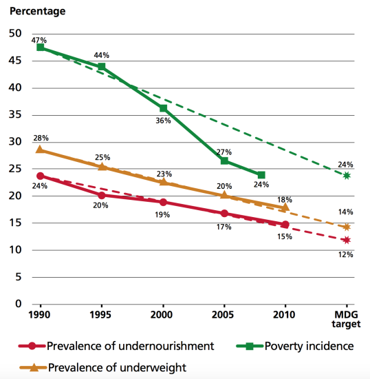 FAO 2013 MDG progress and trajectories