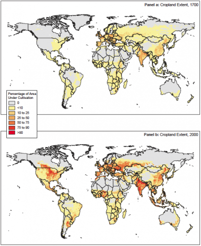 The changing global landscape of crop production, 1700 to 2000 –Alston, Babcock, and Pardey [eds.] (2010) [based on SAGE data]0