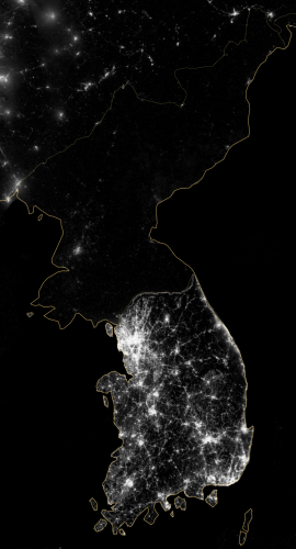 Korea At Night 2012 – NASA