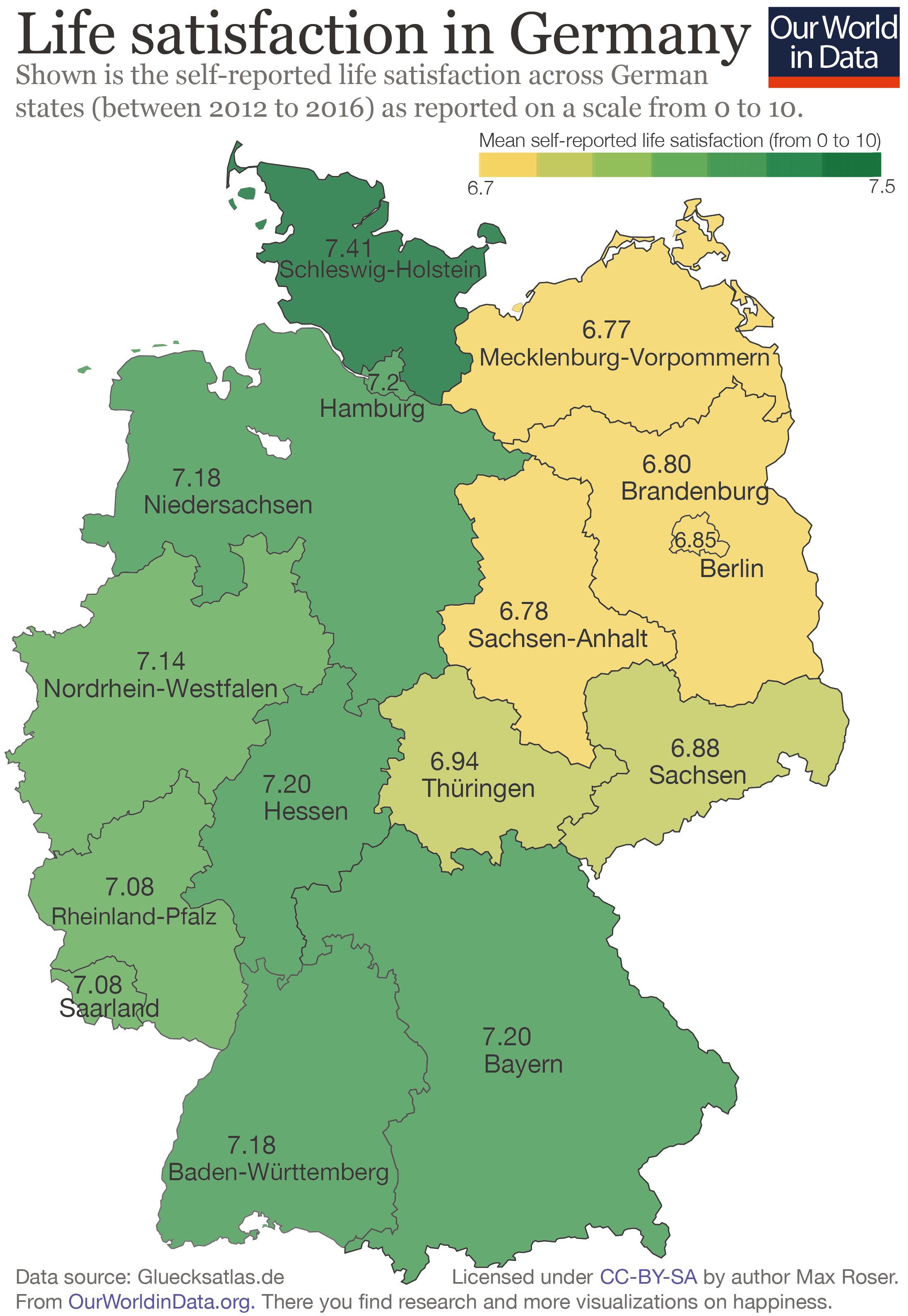East West Germany Map There is a 'happiness gap' between East and West Germany   Our  East West Germany Map