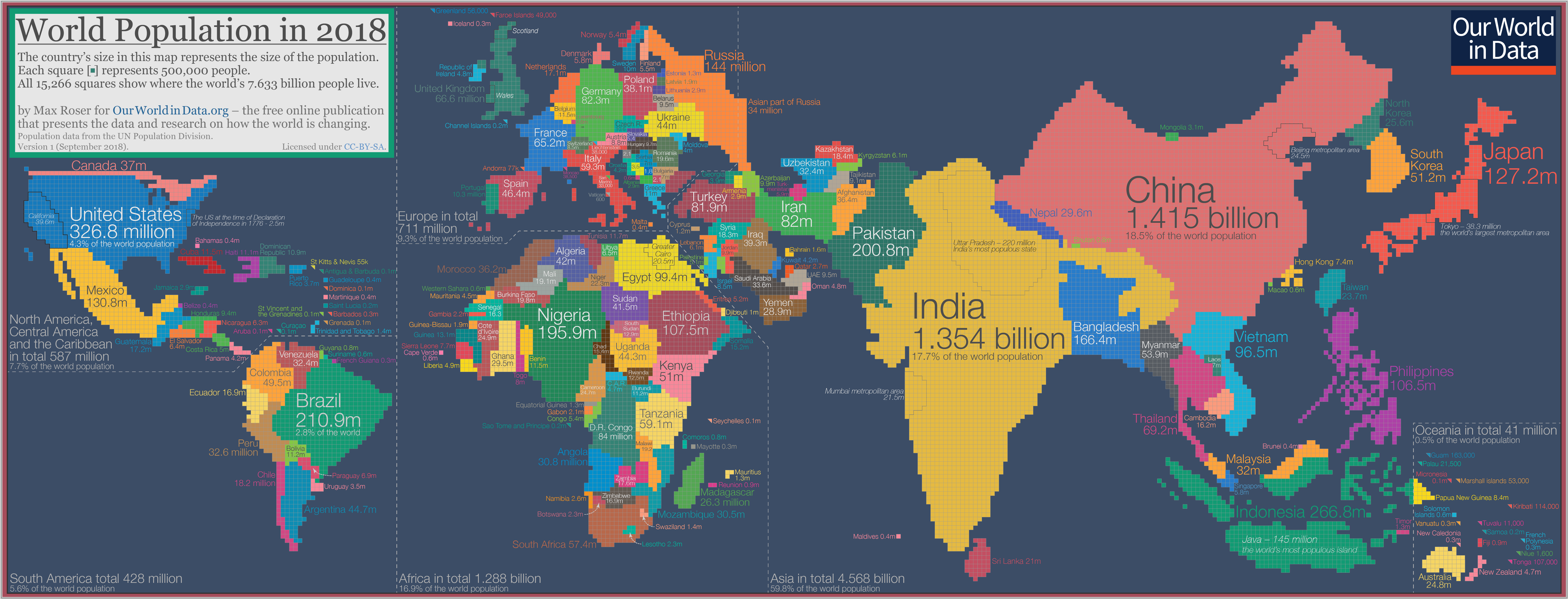 Population Map Of The World The map we need if we want to think about how global living
