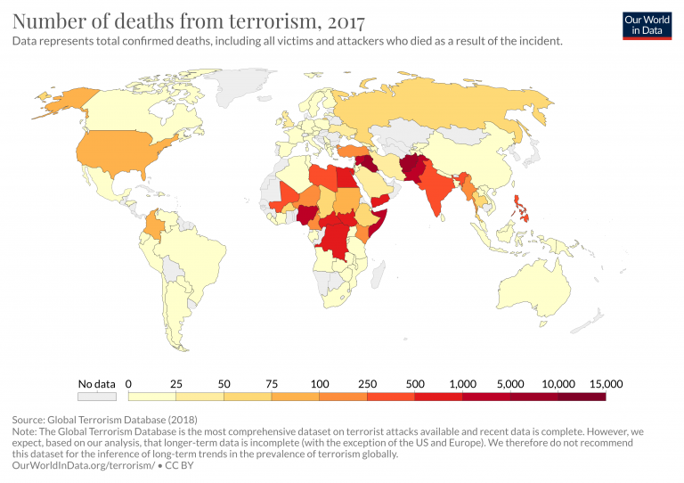 Fatalities from terrorism 3