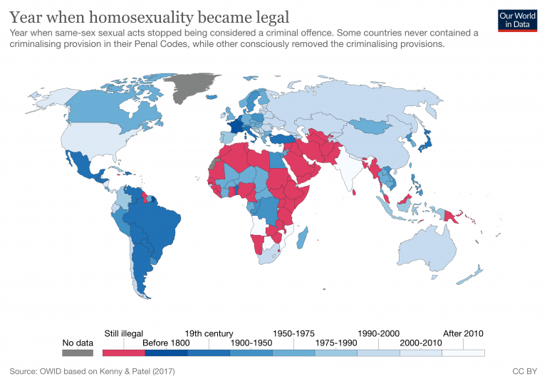 Year when homosexuality became legal