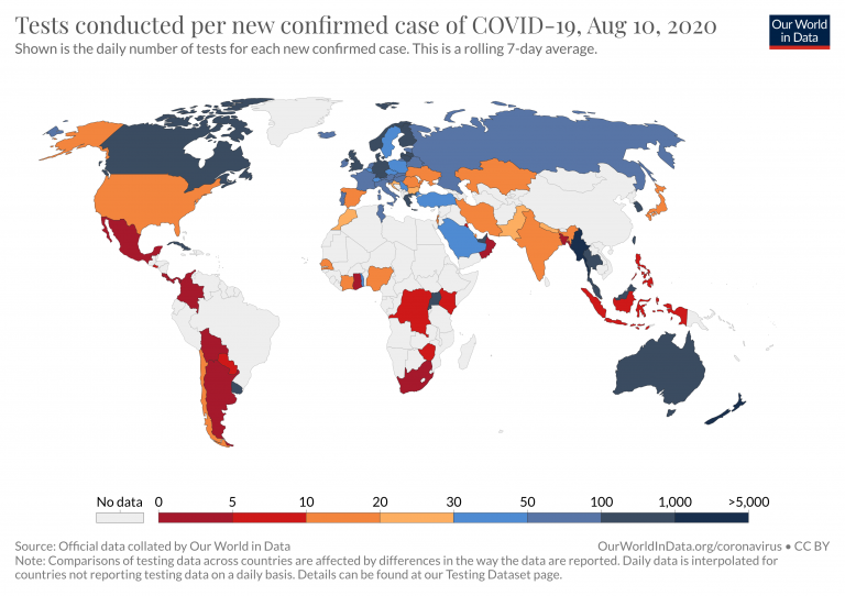 Coronavirus Covid 19 Testing Our World In Data