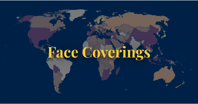 COVID-19 policy face coverings