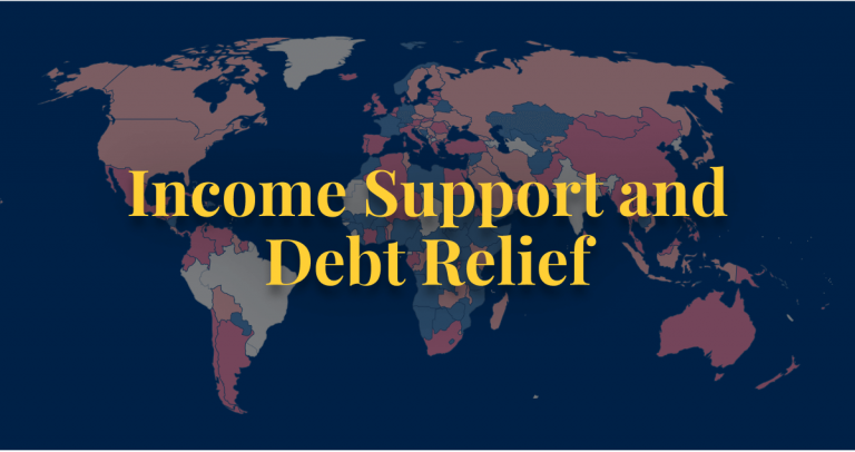 COVID-19 policy income support and debt relief