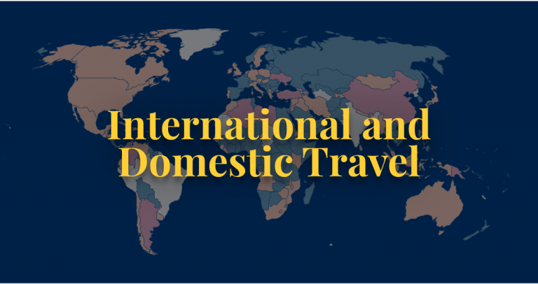 COVID-19 policy international and domestic travel