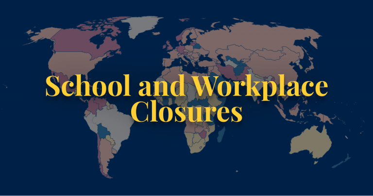COVID-19 policy school and workplace closures
