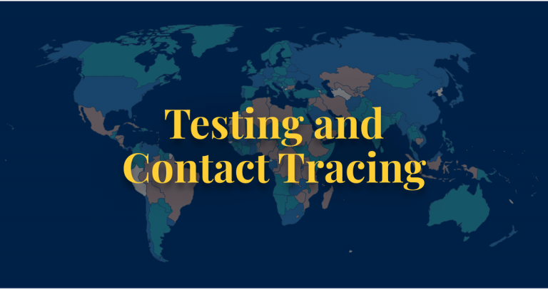 COVID-19 policy testing and contact tracing