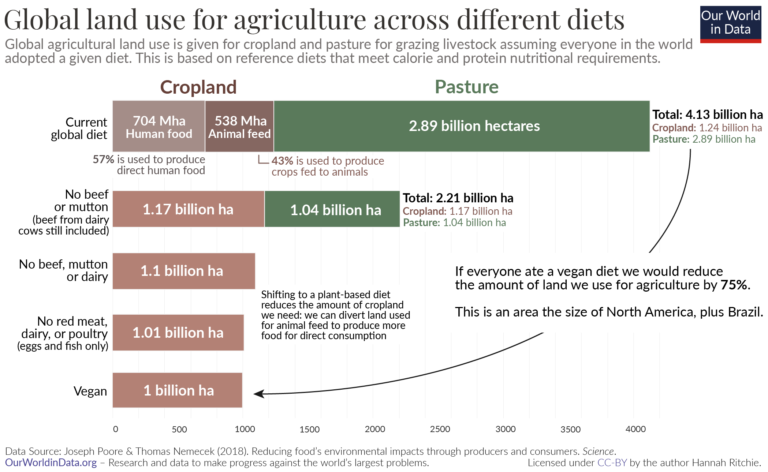 Land use of different diets poore nemecek