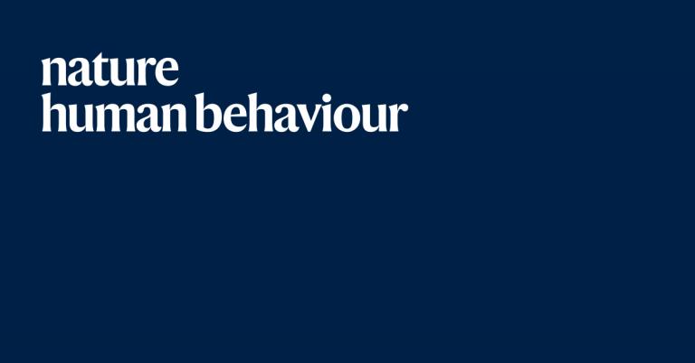 Nature human behavior featured