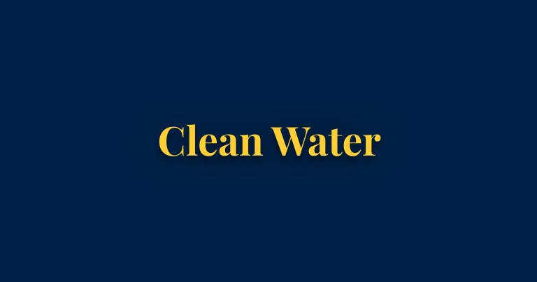 Clean water thumbnail